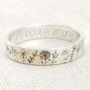 🌼🌷You Belong Among The Wildflowers Silver Ring